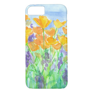 California Poppies Watercolor iPhone 8/7 Case