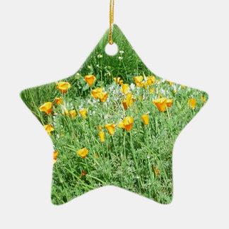 California Poppy #3 Ceramic Ornament