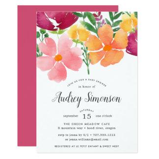 California Poppy | Baby Shower Invitation