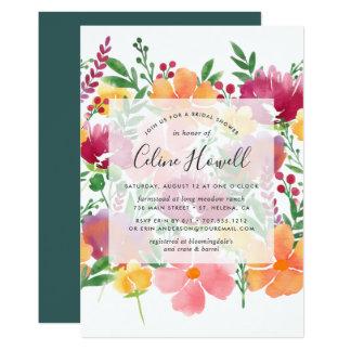 California Poppy Bridal Shower Invitation