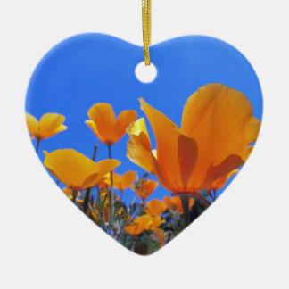 California Poppy Ceramic Ornament