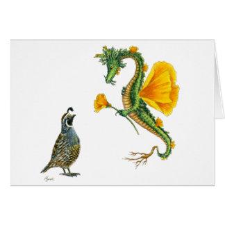 California Poppy Dragon card