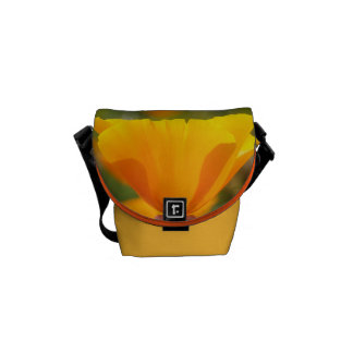 California Poppy Field Courier Bag