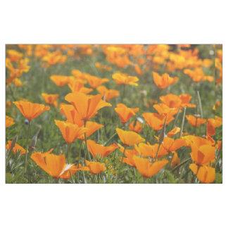 California Poppy Field Fabric