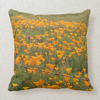 California Poppy Field Pillow
