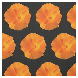 California poppy flower. eschscholzia californica fabric