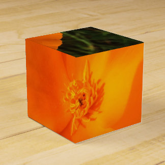 California Poppy Flower Favor Box