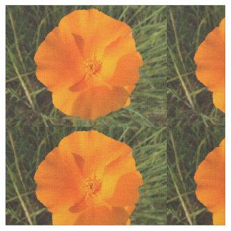 California Poppy Flowers Fabric