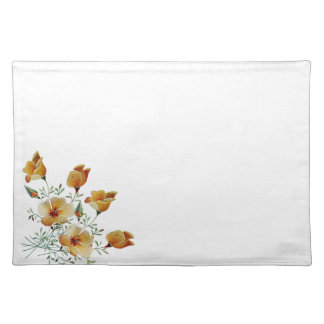 California Poppy Flowers Wildflowers Placemat