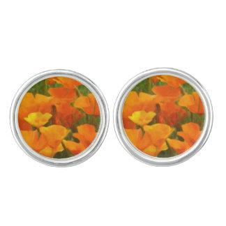 california poppy impasto cufflinks