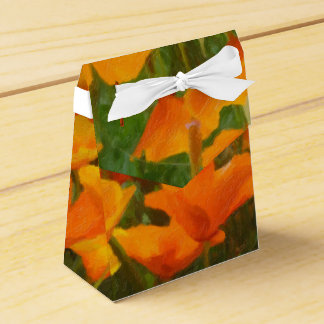 california poppy impasto favor box