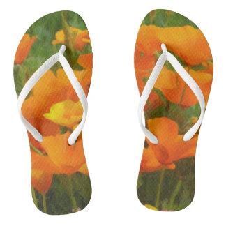 california poppy impasto flip flops