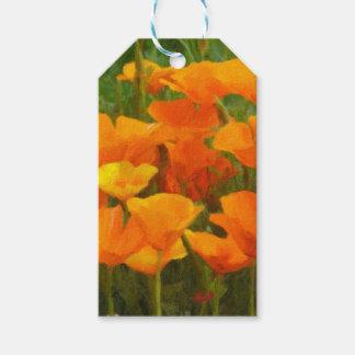 california poppy impasto gift tags