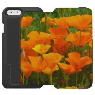 california poppy impasto incipio watson™ iPhone 6 wallet case