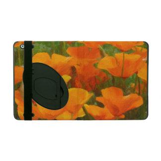 california poppy impasto iPad case