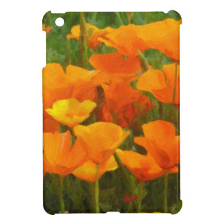 california poppy impasto iPad mini case
