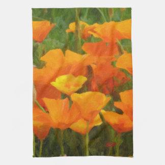 california poppy impasto kitchen towel