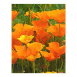 california poppy impasto letterhead