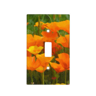 california poppy impasto light switch cover