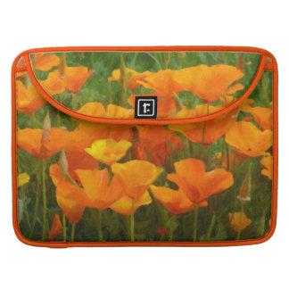 california poppy impasto MacBook pro sleeve