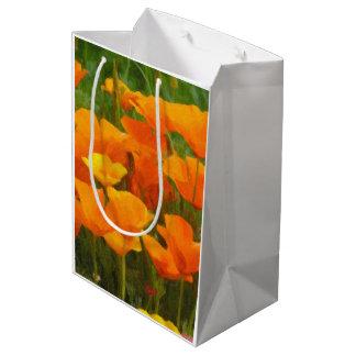 california poppy impasto medium gift bag