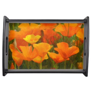 california poppy impasto serving tray