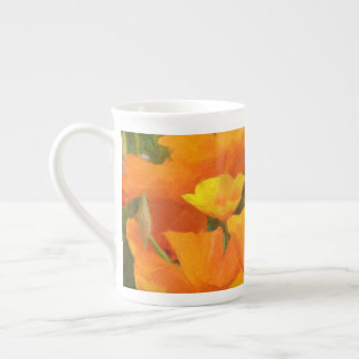 california poppy impasto tea cup