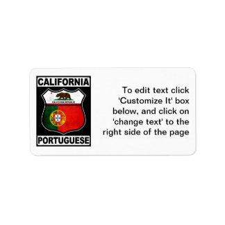 California Portuguese American Label