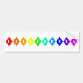 california pride. bumper sticker