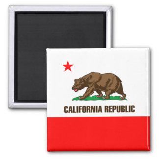 California Pride Square Magnet
