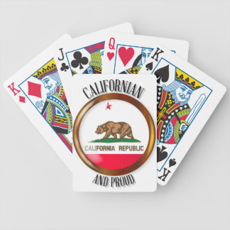 California Proud Flag Button Bicycle Playing Cards