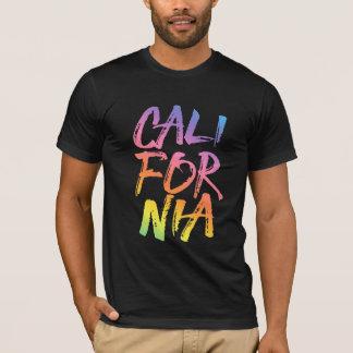 California Rainbow Brushed Lettering T-Shirt