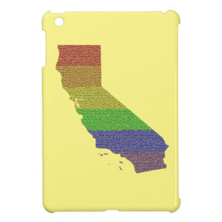 California Rainbow Pride Flag Mosaic iPad Mini Covers