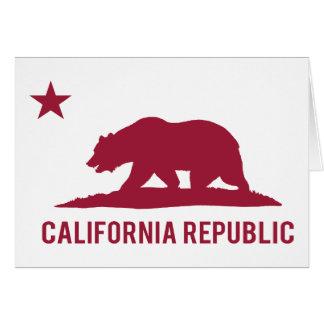 California Republic - Basic - Red Greeting Card
