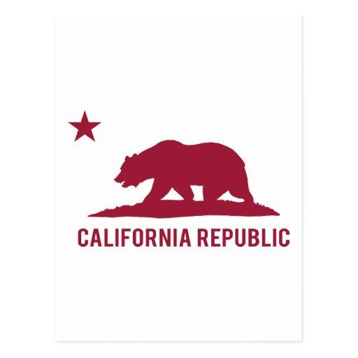 California Republic - Basic - Red Postcards