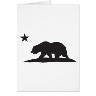 California Republic Bear - Black Greeting Card