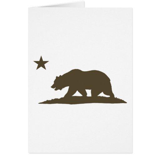California Republic Bear - Brown Cards