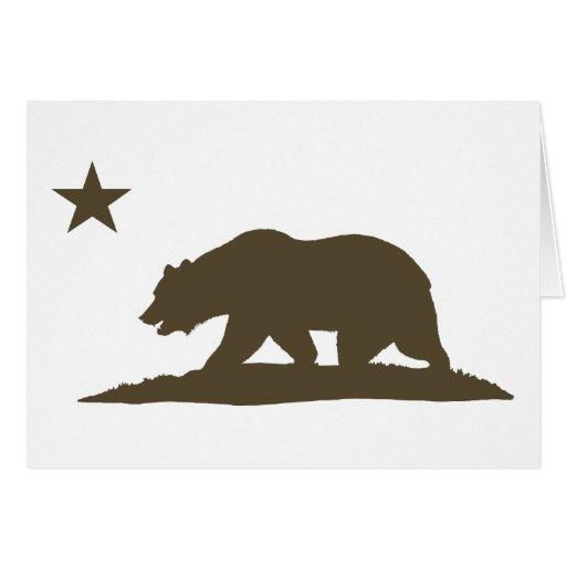 California Republic Bear - Brown Greeting Cards