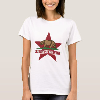 California Republic Bear Flag Star T-Shirt