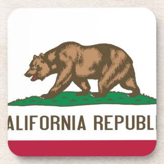 California Republic Bear State Flag Coaster