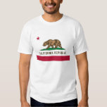 California Republic Bear State Flag T Shirts