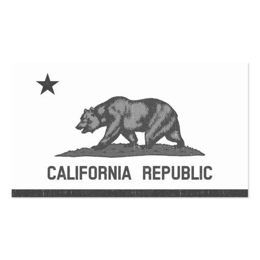 California Republic (Black) Business Card Template