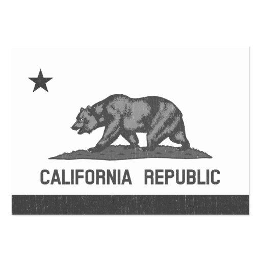 California Republic (Black) Business Card Templates