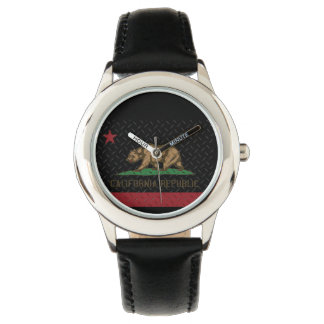 California Republic Black Diamond Plate Watch