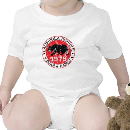 California republic born raised 1970 t-shirts
