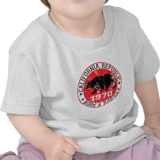 California republic born raised 1970 t-shirt