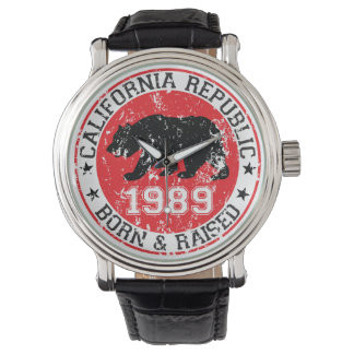 California Republic born raised 1989 Watch