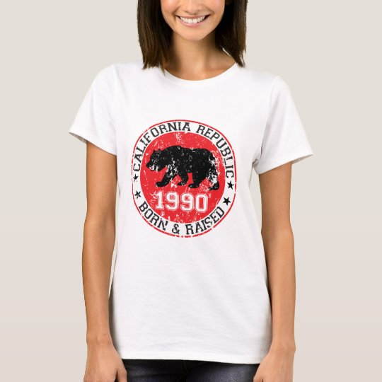 california republic born raised 1990 T-Shirt