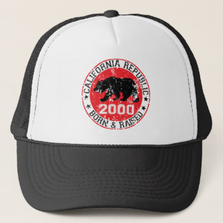california republic born raised 2000 trucker hat