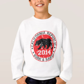 California republic born raised 2014 sweatshirt